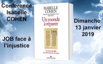 Job face à l'injustice - Isabelle COHEN le 13 janvier 2019