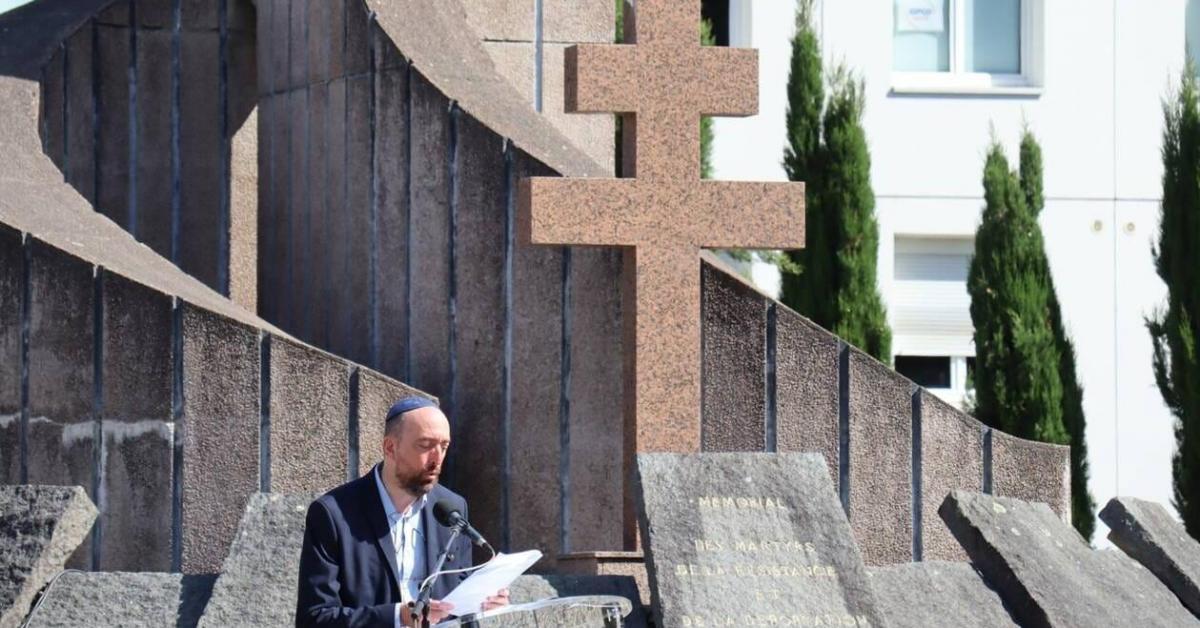 À Rennes, la flamme du souvenir pour les rafles contre les Juifs et les crimes racistes
