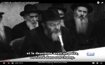 Le Rabbi de Loubavitch sur l'antisémitisme